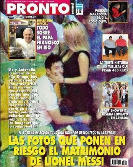 Cuidadito Messi que las manos van al pan, déjate de strippers...