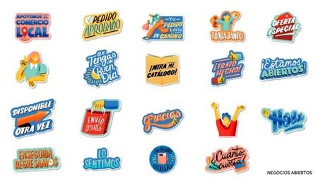 Stickers Animados Negocios Whatsapp