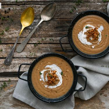 Crema Essau de lentejas, puerro y cebolla, el plato de cuchara que reconforta cuerpo y alma