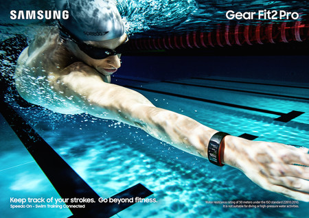 Gear Fit2 Pro Lifestyle Swimming Red 2p Rgb
