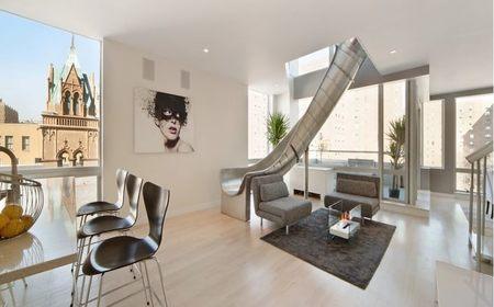 ¿Siempre con prisas? Ático-Duplex con tobogán en el East Village de Manhattan