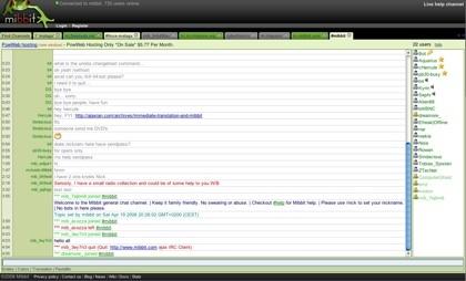 Mibbit, el cliente web de IRC