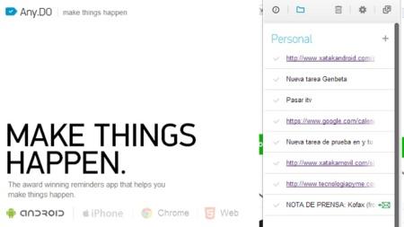 Any.DO, el gestor de tareas minimalista que convierte tus correos de Gmail en tareas