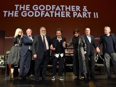 Coppola y los protagonistas de 'El padrino' se reúnen para celebrar el 45º aniversario del film