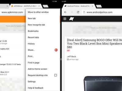 En Android N puedes abrir pestañas de Chrome en distintas ventanas a la vez