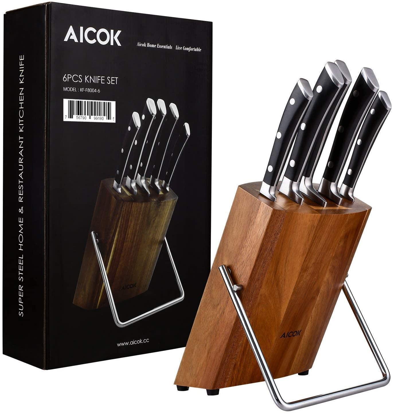 Juego de 6 cuchillos de Aicok