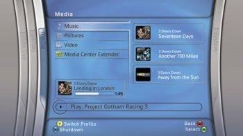 Primeros pantallazos del panel de control de la XBox 360