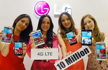 LG ya ha vendido más de diez millones de teléfonos con conectividad LTE