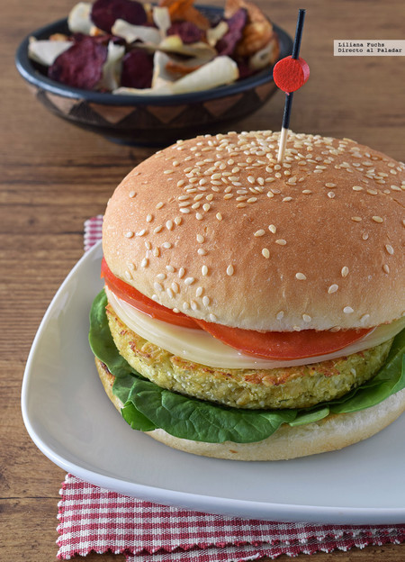 hamburguesa de avena al curry