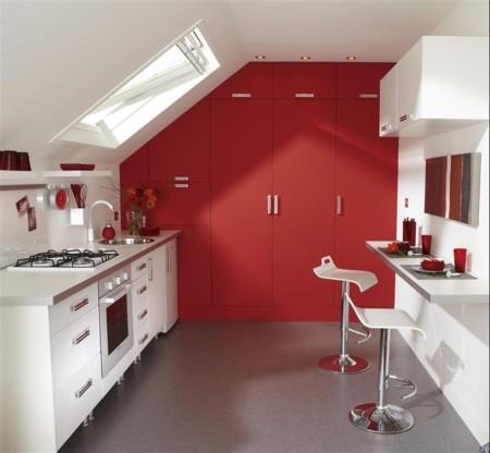 Una cocina luminosa y actual los muebles blancos son for Muebles de cocina vibbo