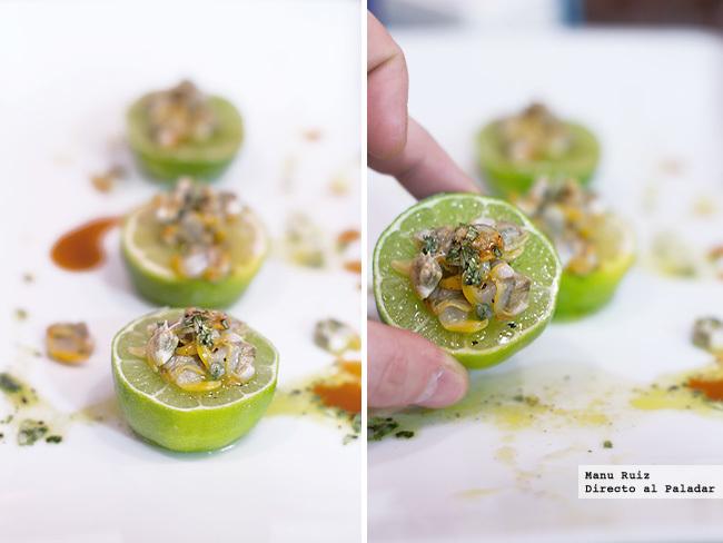 Cebiche de berberechos picantes con lima