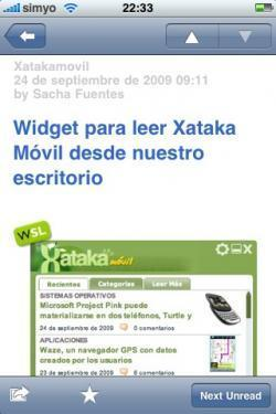 NetNewsWire para iPhone, al fin sincroniza con Google Reader