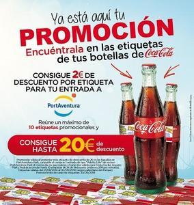 Un descuento de hasta 20 euros para PortAventura en las etiquetas de Coca-Cola