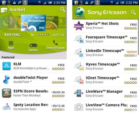 Sony Ericsson abre su propio canal en Android Market
