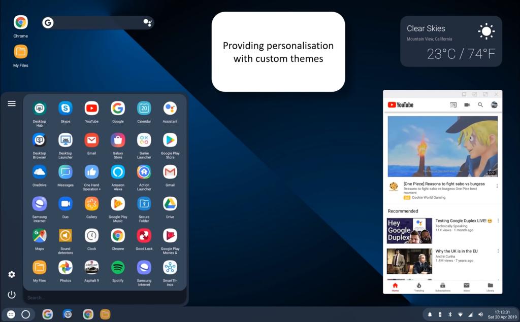 El manera escritorio de Android™ Q presenta todo su potencial gracias a un launcher personalizado