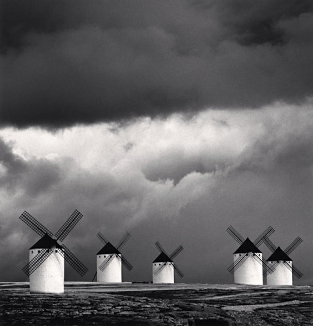 Michael Kenna Quixotes Giants Campo De Criptana La Mancha Spain 1996