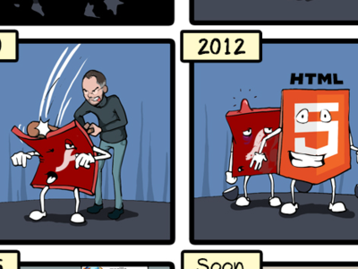 La historia de Adobe Flash en una sola viñeta. La imagen de la semana