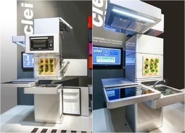 Futurista cocina vertical diseñada por Massimo Facchinetti