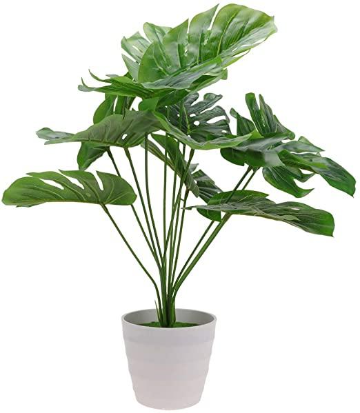 VICASKY Faux Monstera Planta Plástico Monstera Deliciosa Plantas Artificiales Grande Decorativas Monstera Palmera Artificial Modernos Hogar Decoracion