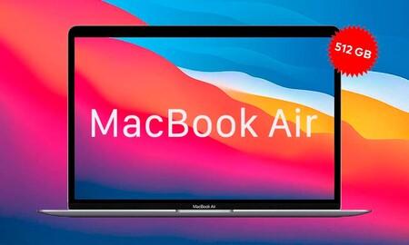 Si necesitas más GB el MacBook Air de 512GB con procesador M1 sale más barato en Amazon. Lo tienen rebajado a 1.285,99 euros