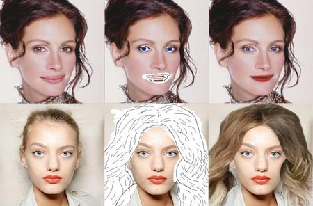 Gracias a la inteligencia artificial, basta con trazar unos garabatos para alterar rostros de forma realista