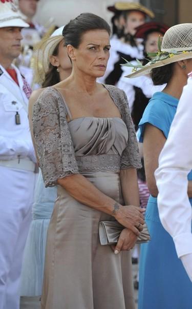 El estilismo de Estefanía de Mónaco: la princesa apuesta por el encaje