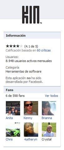 La aplicación de Facebook no miente: 8.948 Microsoft Kin registrados