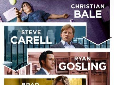 'La gran apuesta': Bale, Carell, Gosling y Pitt contra los bancos en un nuevo tráiler