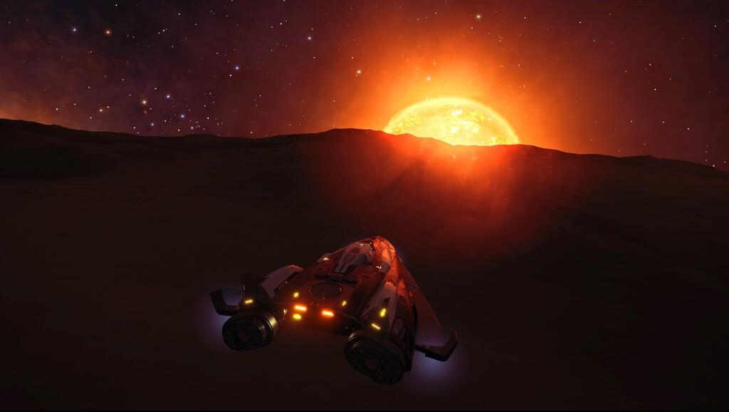 Modo Foto: una imponente estrella poniéndose en un planeta extraño y lejano es la captura de la semana