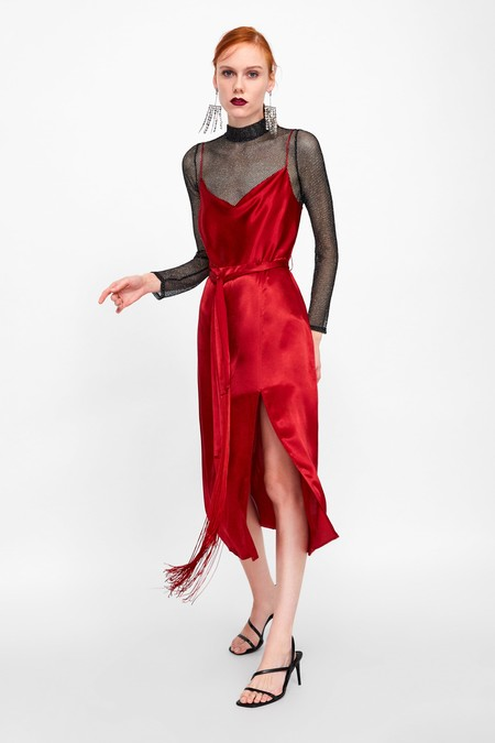 Vestido Zara Fiesta Color 02