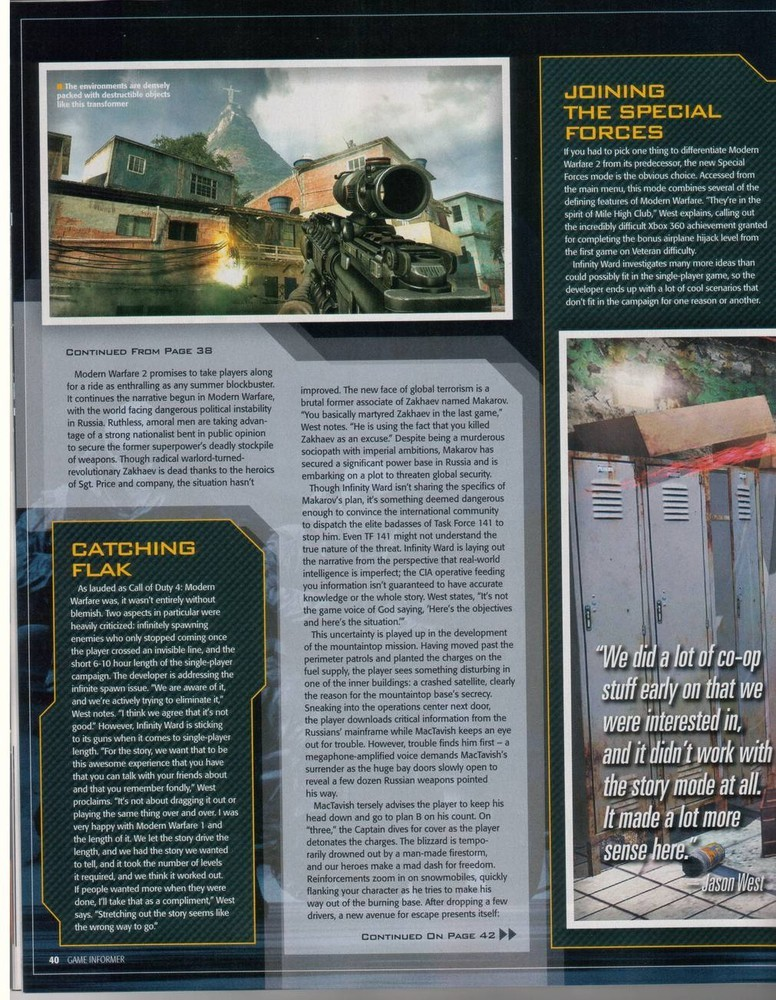 'Modern Warfare 2' Scans Game Informer