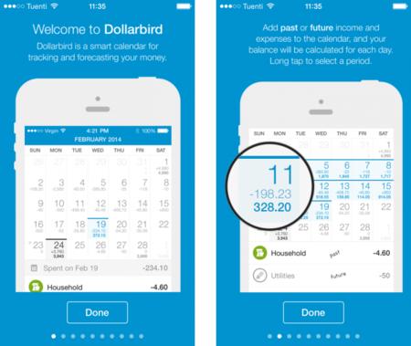 Dollarbird: ¿Y si la mejor forma de controlar nuestras finanzas es un calendario?
