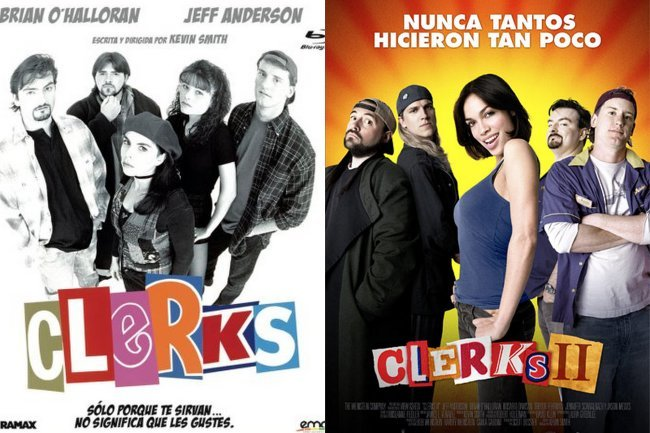 Los carteles de Clerks y Clerks 2
