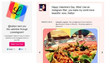 Lovestagram, crea una tarjeta virtual con fotos de Instagram para el día de San Valentín