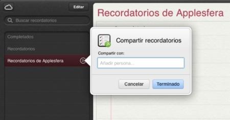 Apple actualiza la web de iCloud con los recordatorios compartidos