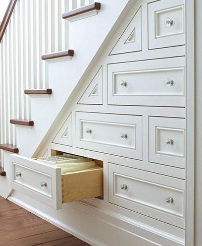 Cajones bajo la escalera