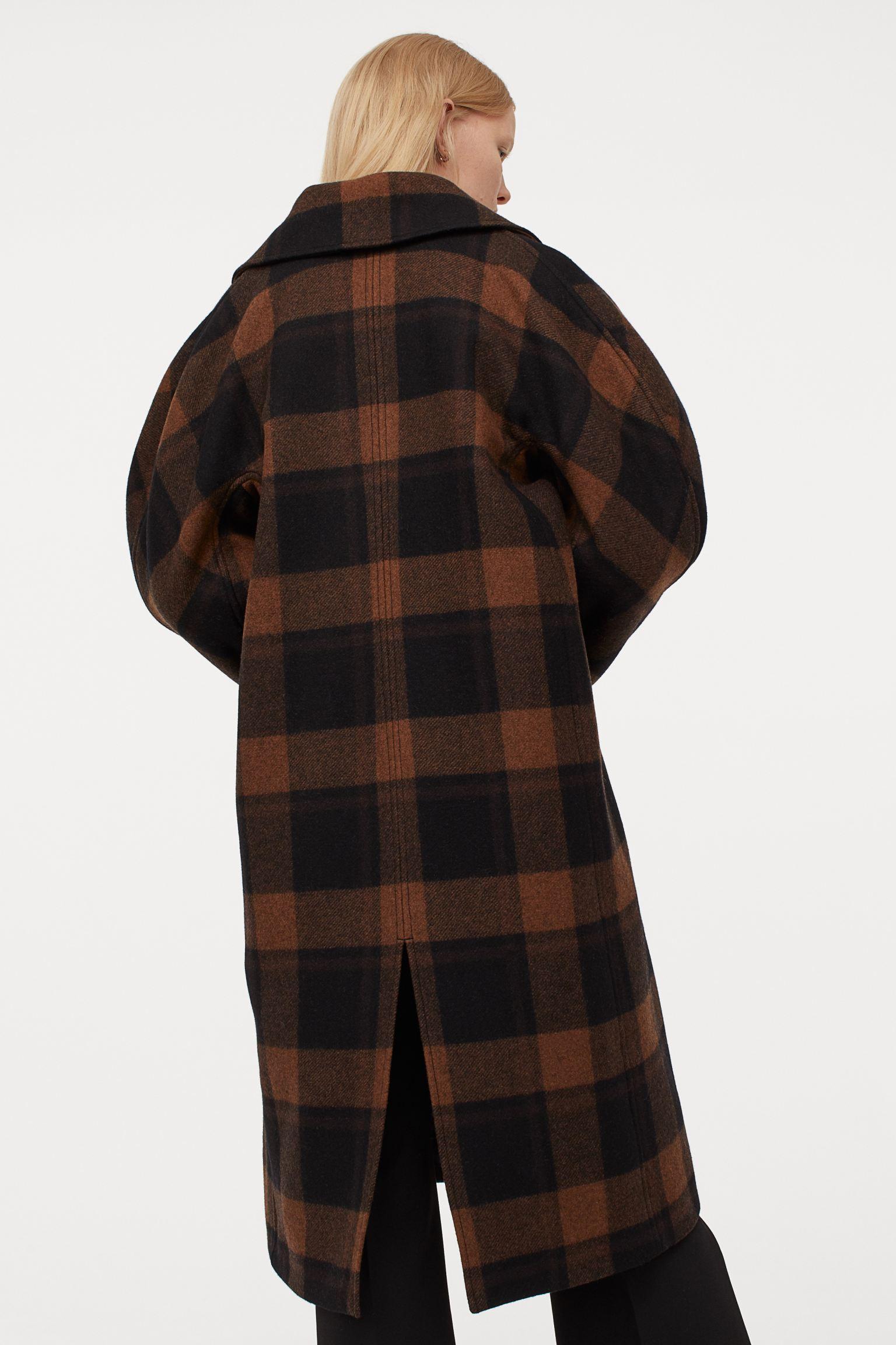 Abrigo oversize en mezcla de lana