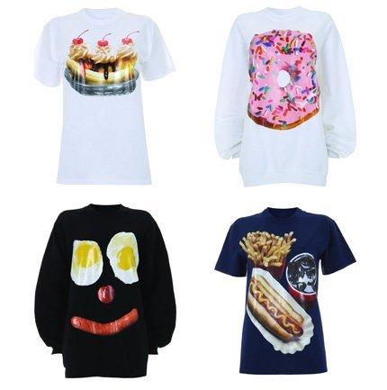 Tophshop vuelve a contar con Ashish para unas nuevas camisetas con comida
