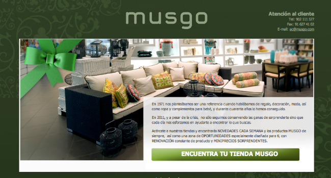 Tienda online de musgo