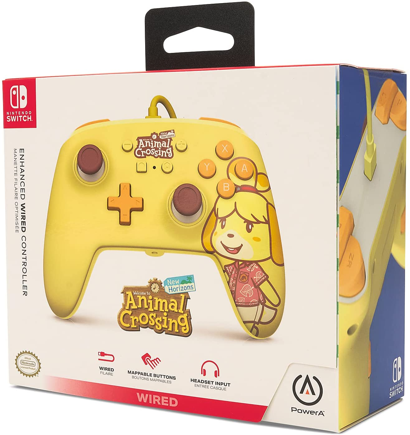 Control alámbrico PowerA para Nintendo Switch de Animal Crossing; New Horizons