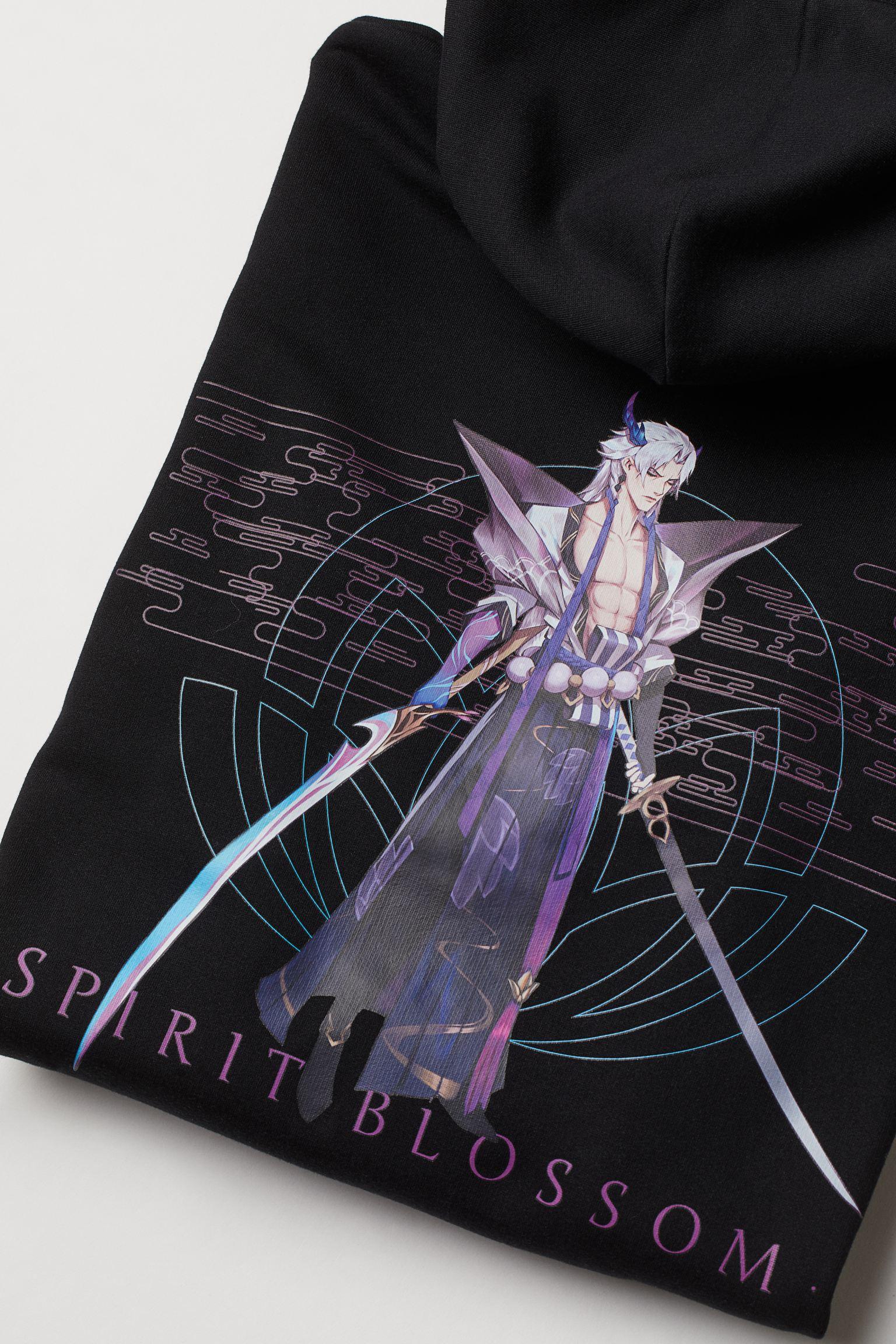 Sudadera oversize con ilustración en la espalda y logo en la manga de League of Legends
