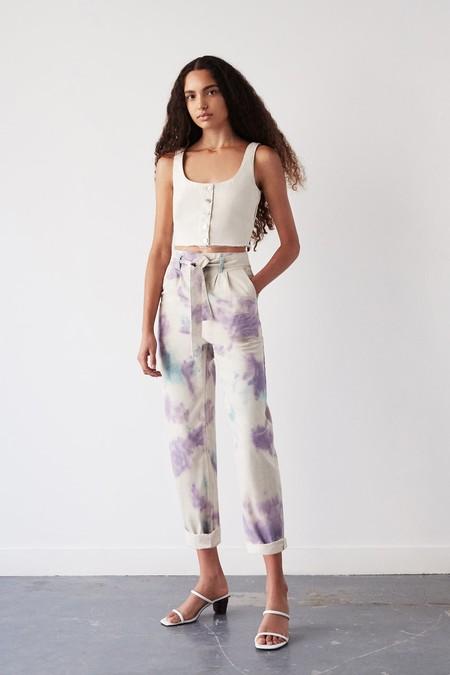 Pantalón oversize tie-dye lila
