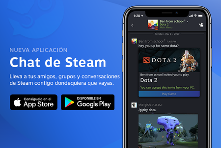 Steam Chat, la nueva app de Valve, ya está disponible en iOS y Android