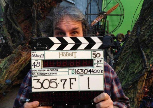 Peter Jackson durante el rodaje de El Hobbit