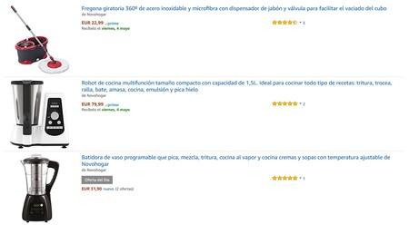 5 ofertas en artículos de hogar y cocina de Novohogar en Amazon