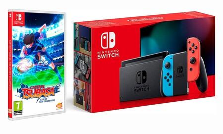 El regalo de estas navidades para gamers fans de Oliver y Benji es este pack de Nintendo Switch con Captain Tsubasa por 329 euros