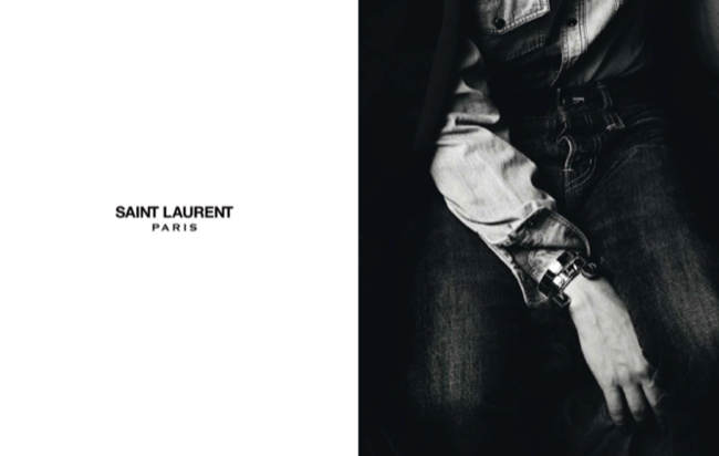 Hedi Slimane Saint-Laurent-Paris-Ad-2012