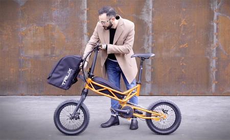La Trilix es una bicicleta eléctrica plegable de fabricación italiana, con ruedas de hasta 20 pulgadas y una autonomía de 120 km