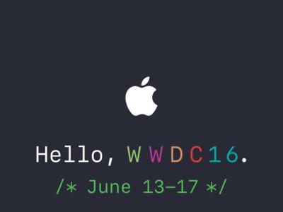 Ahora es oficial, la WWDC 2016 de Apple se llevará a cabo del 13 al 17 de junio