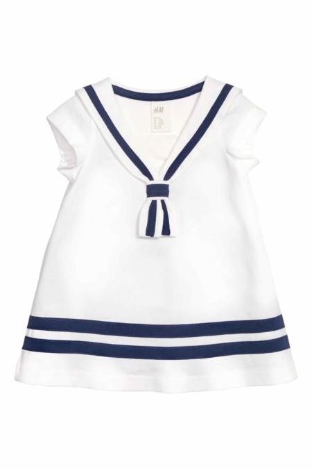 Vestido Marinero Azul Y Blanco Hym